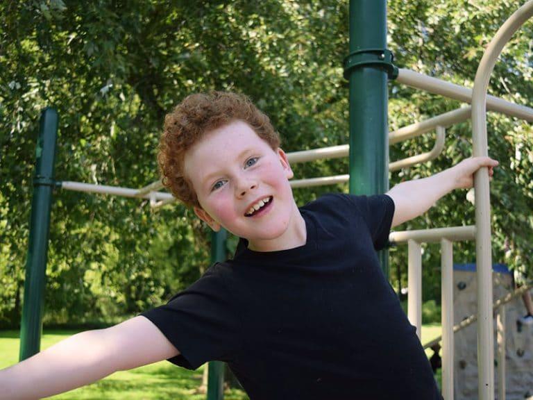 Foundation Boy at School Play Gym