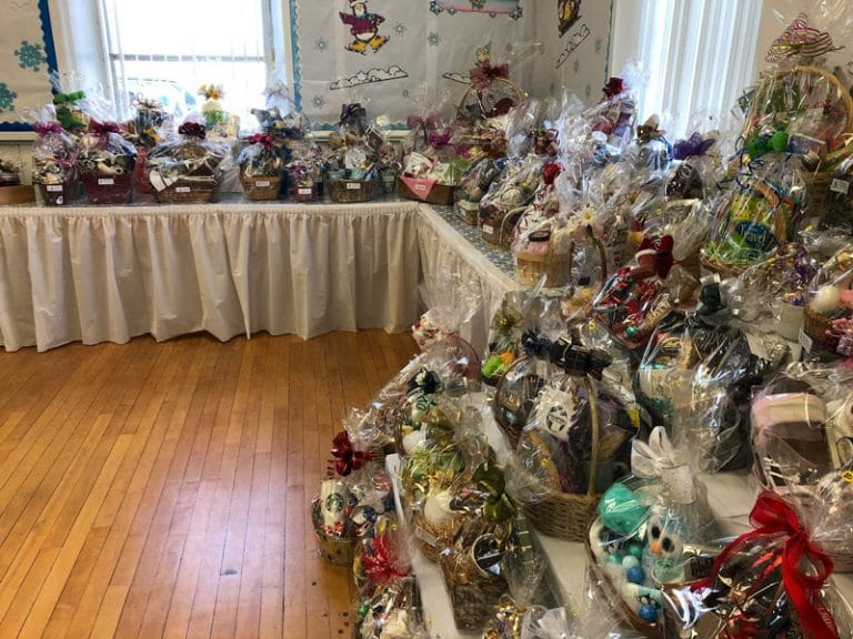 Gift Baskets at Foundations Winterbourne event