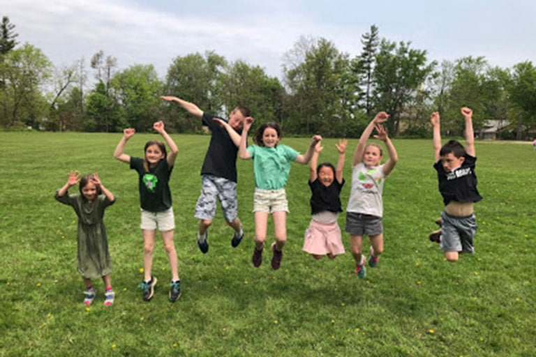 Foundation Founder's Day Fun: Children Jumping