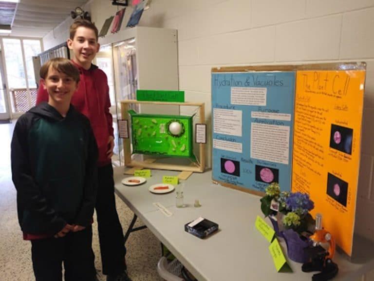 Foundation School Science Fair - Two boys at display