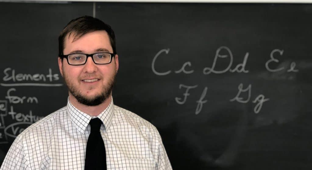 Foundation Christian School Principals - Matt Robinson in Classroom